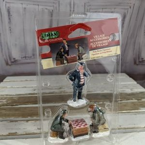 Lemax Village Collection Playing Chess Holiday Fig